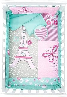 Best Seller Paris Eiffel Tower Crib Bedding Set for Baby Shower Gift 6 PCS