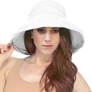 aa2b43b220e Simplicity Women s Cotton Summer Beach Sun Hat with Wide Fold-Up Brim