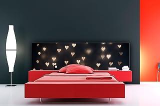Cabecero Cama PVC Impresión Digital Corazones Difuminados Multicolor 150 x 60 cm | Disponible en Varias Medidas | Cabecero Ligero, Elegante, Resistente y Económico