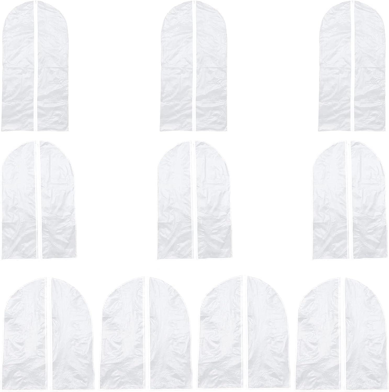 Cabilock Ranking TOP1 10pcs Spasm price Garment Bag Hanging Bags Clear D Suit Translucent