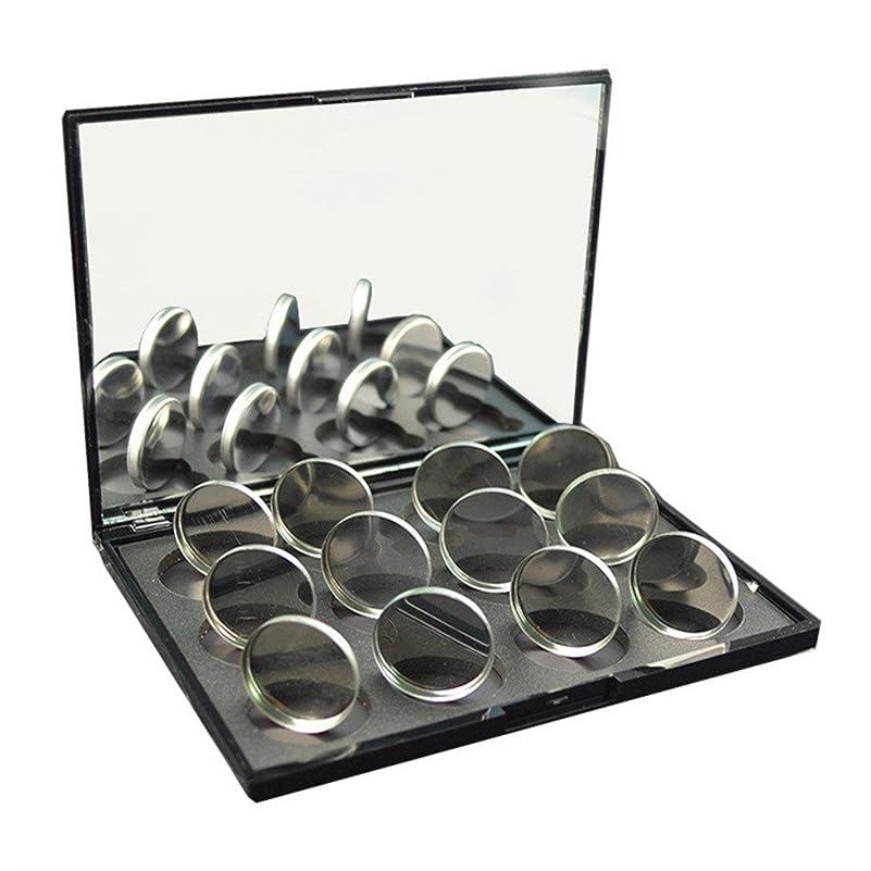 クール管理軍磁石に敏感な粉のアイシャドウ26mmのための100pcs空の円形の錫鍋