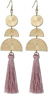 Bohemian Tassel Earrings Women 12Cm Long Ombre Dangle Earring Statement Jewelry