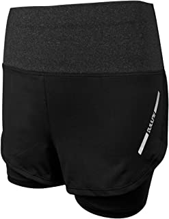2 in 1 running shorts womens