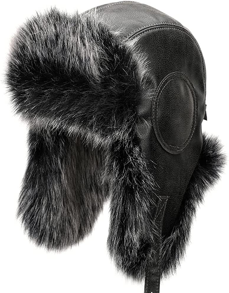 Lnrueg Windproof Causal Fashion Coldproof Neutral Funky Protective Simple Winter Ear Flaps Hats Warm Causal Coldproof Windproof Trooper