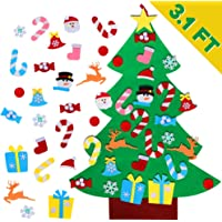AerWo DIY Felt Christmas Tree Set + 26-Peice Detachable Ornaments