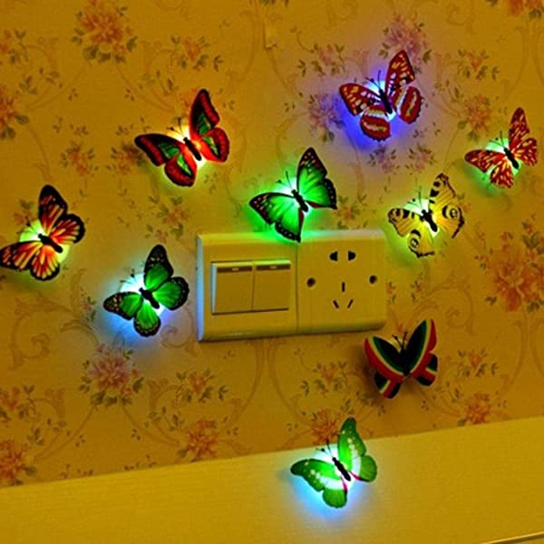 Edited Butterfly Shape Colorful 3D Simulation Stereo Wall Stickers
