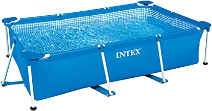Intex 8.5' x 5.3' x 2.13' Rectangular Frame Above Ground Backyard Swimming Pool