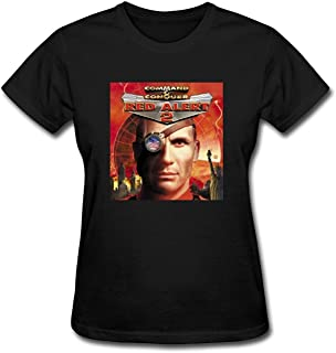 JXK Women's Command & Conquer Red Alert 2 logo T-shirt