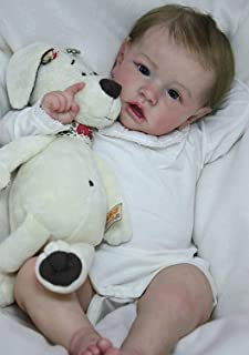 Pink-2001 Angelbaby 22inch Reborn Baby Dolls Soft Silicone Sleeping Newborn Baby Doll Real Life Cute Weighted Gentle Body Baby for Girl Boy Gifts Sets
