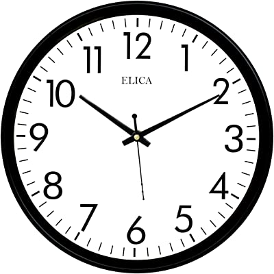 Elica Home and Office Designer Wall Clock (Black, DVN-01)