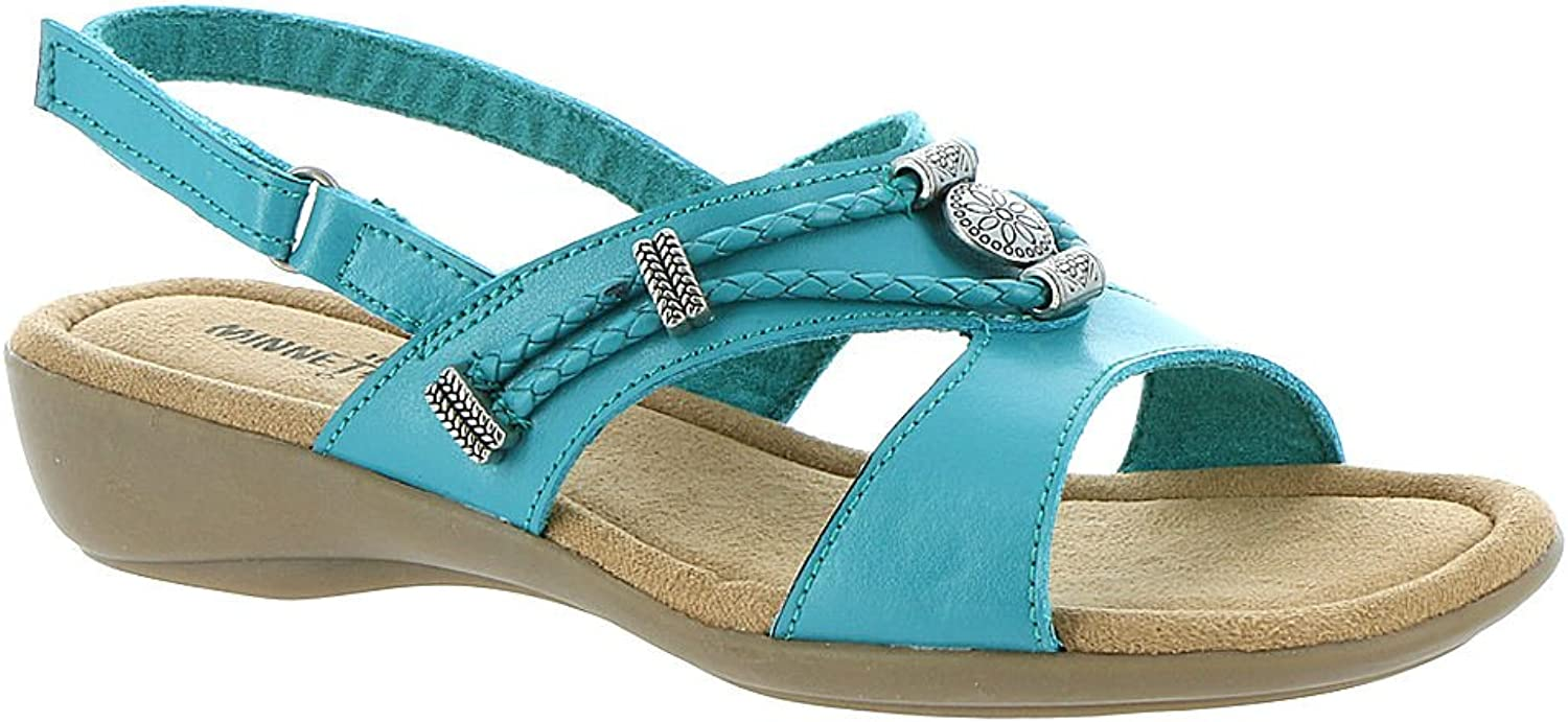 Minnetonka Womens Arizona Open Toe Casual Slide Sandals