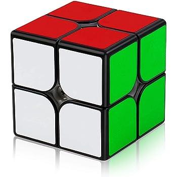 XMD パズルセット マジックキューブ 競技専用 世界基準配色 ver3.1 ポップ防止 FAVNIC 魔方 脳トレ 知育玩具 ブラック (1個入【2×2】)