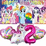 My Little Pony 2nd Party Supplies   For Girls   Second   Two   Decorations   Birthday   Banner   Backdrop   Balloons   Favors