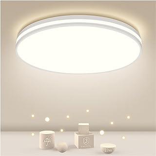 Plafonnier LED 20W, Öuesen Rond Lampe de Plafond BPlafonnier Salle de Bains 1850LM Moderne Luminaire Plafonnier Imperméabl...