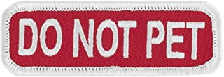 DO NOT PET (Red/White) Velcro Service Dog Embroidered Patch - 3