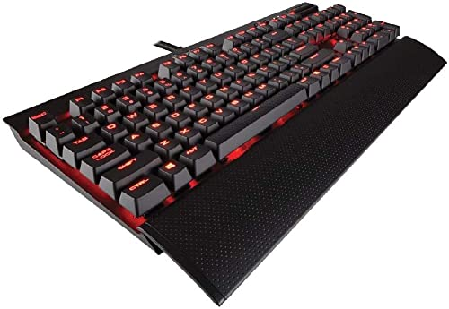 Corsair K70 RAPIDFIRE Mechanical Gaming Keyboard - Backlit Red LED - USB Passthrough & Media Controls - Fastest & Lin...