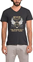 POKA Men's Newest Never Underestimate The Power of A Mom of Twins Cool T-Shirt V Neck