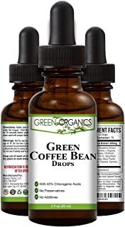 Green Organics Green Coffee Bean Liquid Extract Weight Loss Supplements | Suppresses Appetite | Boosts Metabolism | No Pre...