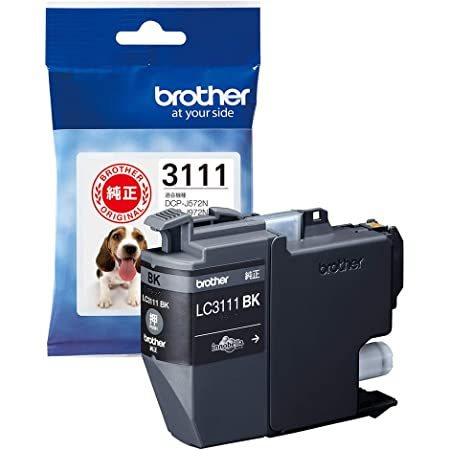 【brother純正】インクカートリッジブラック LC3111BK 対応型番:DCP-J987N、DCP-J982N、DCP-J587N、DCP-J582N、MFC-J738DN 他