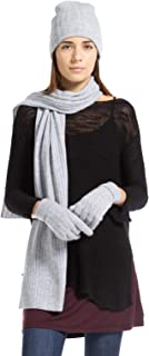 Fishers Finery Women's 100% Cashmere Cable Knit Hat Glove Scarf Set; Gift Box