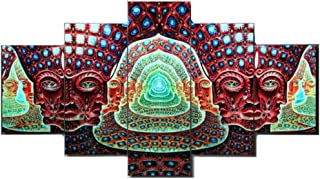 PENGDA Graphic Canvas Wall Art 5 Panels Tool Alex Gray HD Printed Poster on Canvas for Home Decor Living Room
