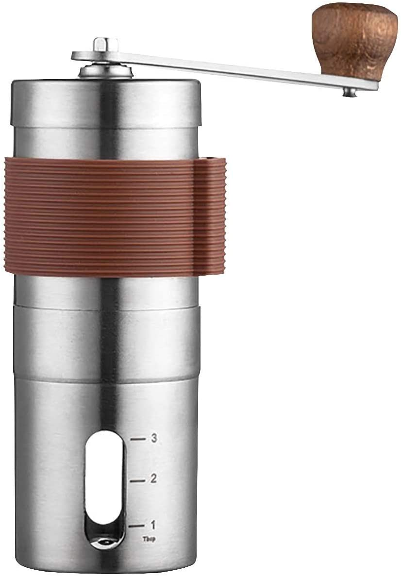 2021 Manual Coffee Grinder with Setting Stainless Adjustable Raleigh Mall Fees free Ste