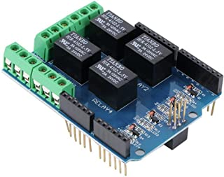HiLetgo 5V 4 Channel Relay Shield for Arduino Uno R3 Arduino Uno Relay Shield Four Channel Relay Shield for Arduino Uno R3