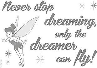Komar - Disney - Deco-sticker NEVER STOP DREAMING - Muurtattoo, Muurstickers, Muurstickers, Wandfoto, Thinker Bell, Elf, F...