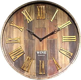 アメリカの純木の柱時計/居間の背景の時計/ロフトの模造ワイン樽の純木の柱時計