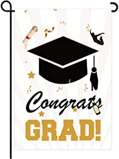 """علم التخرج حديقة العلم التدريس على الوجهين 12 """"x 18"""" للاحتفال التخرج الديكور الخارجي"""