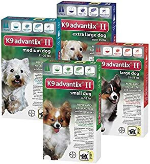 Bayer K9 Advantix II, Flea And Tick Control Treatment for Dogs, 21 to 55 Pound, 2-Month Supply