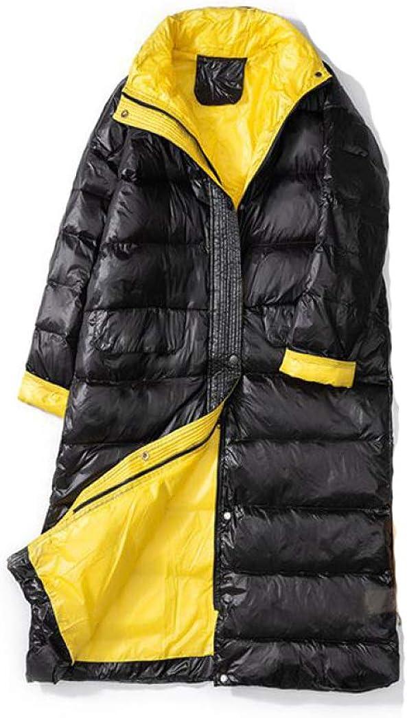 Winter Long Down Coat Women Ultra Light White Duck Down Jacket Female Loose Windproof Down Overcoat Outerwear