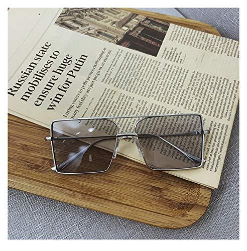 SSN Moderno Hipster Retro Gafas De Sol Femenino Color De Té Japonés Marco Plaza Redondo Cara Redonda Tiro Anti-Ultravioleta Occhiali Da Sole Uomo (Color : C)
