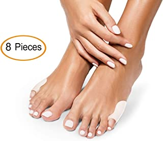 Best Tailor's Bunion Foot Pain Relief Pad Set - 8 Soft Silicone Gel Bunionette Toe Pads for Women and Men. Tailor Bunions Toes Cushion Corrector and Protectors for Tailors, Calluses, Blisters, Corns