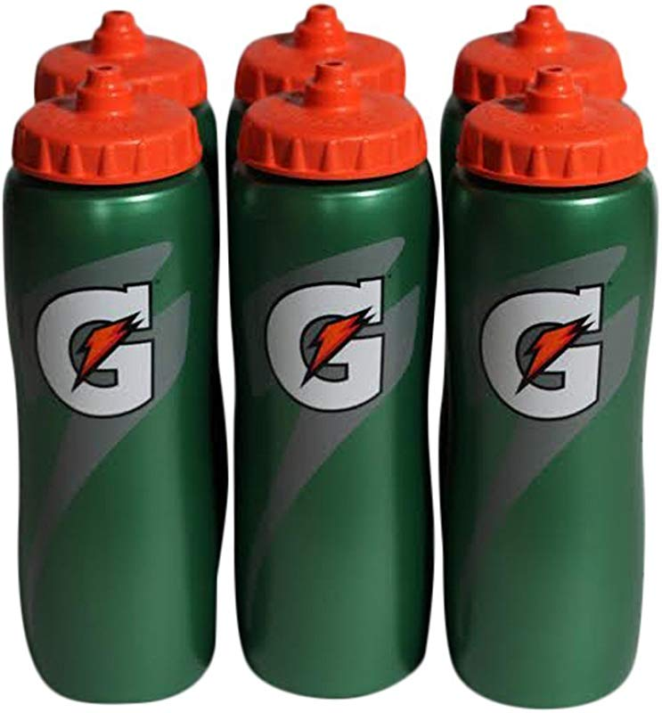 Gatorade 32 Oz Squeeze Water Sports Bottle Value Pack Of 6 New Easy Grip Design For 2014