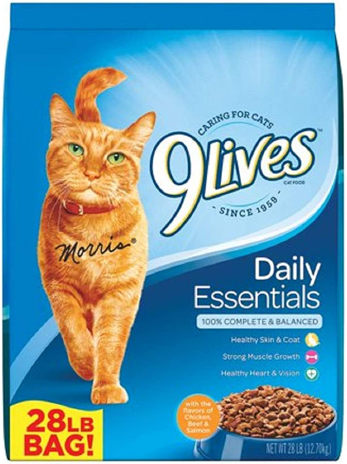 PACK OF 2  9 Lives Daily Essentials Dry Cat Food, 28 lb