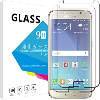 Galaxy S6 SC-05G ガラスフィルム 【2枚セット】 Huy 強化ガラス 保護フィルム 業界最高硬度9H/高透過率/貼り付け簡単/気泡防止/飛散防止/スムースタッチ ギャラクシー S6 専用