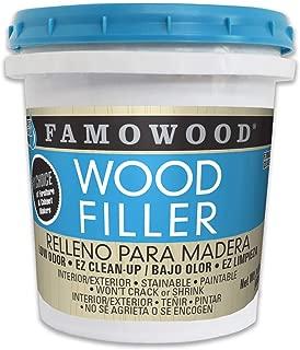 FamoWood 40022134 Latex Wood Filler - Pint, Red Oak