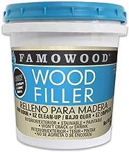 FamoWood 40022126 Latex Wood Filler – Pint, Natural