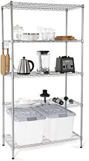 5-Tier Wire Shelving Unit, Adjustable Steel Storage Shelves 35.4