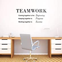 Vinyl Wall Art Decal - Teamwork Coming Together is The Beginning - 18