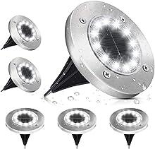 Lampe Solaire Extérieur, Lumière Solaire Jardin 12 LEDs Au Sol Eclairage 6000K Blanc Froid Etanche IP65 Lampe Solaire Spot Encastrable Pour Chemin Terrasse Cour Souterraine -Lot de 6