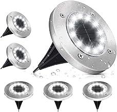 Solar Grond Verlichting Outdoor Tuin SOLMORE Zonne-tuinverlichting IP65 Waterdichte LED Solar Disk Lights 6000K Koud Wit V...