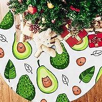 ツリースカート クリスマスツリースカート アボカド おもしろい きれい ホリデーデコレーション メリイクリスマス飾り 下敷物 可愛い 雰囲気 クリスマスパーティー 直径107cm