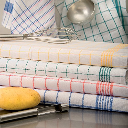 Brändl Textil GmbH Geschirrtuch, Trockentuch, Küchentuch, halbleinen, kariert, hochwertig, 95 °C (60 x 80 cm, gelb)