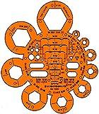 STANDARDGRAPH - Tratta dadi/bulloni, colore: Arancione trasparente