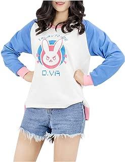 Pink Blue Sweatshirts Print Bunny Girl Long Sleeve Cotton T-Shirt