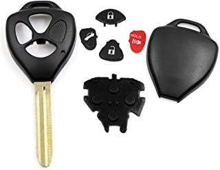 uxcell New 3 Buttons Uncut Key Fob Remote Control Case Shell Replacement HYQ12BBY for 2006-2010 Toyota RAV4