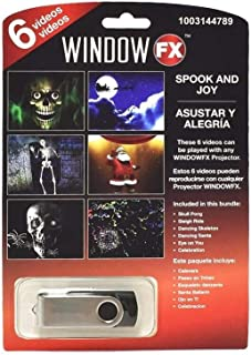 Window FX Halloween 6 Videos Spook & Joy USB Haunted House Prop Decor New 2018