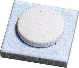 〔立風屋〕珪藻土アロマプレート美濃焼タイルセット ホワイト(白) RPAP-01003-WT